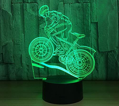 3D Led Reiten Fahrrad Nachtlicht Usb Touch Switch Tischlampe 7 Farben Ändern Für Baby Schlafzimmer Schlafen Beleuchtung Wohnkultur Fernbedienung