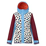 Burton Damen Twc Yea Jacket Snowboardjacke, Rainbw Cheeta Clrbk, S
