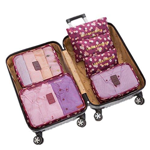 KCNCKSL Hot 6 Teile/Satz Reisetaschen Kleidung Ordentlich Aufbewahrungstasche Box Gepäck Koffer Beutel Zip-BH Kosmetik Unterwäsche Veranstalter Brown