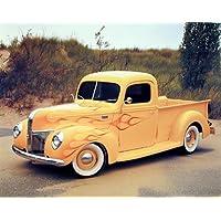 1940 Ford camioneta Harley Koopman Vintage de fotos de madera de diseño de (8 x