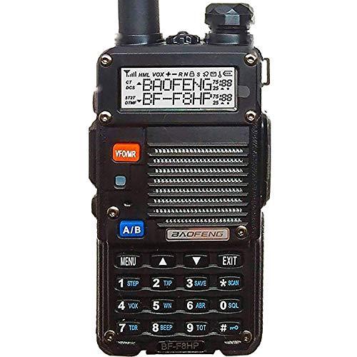 L-BAO BaoFeng BF-F8HP (UV-5R, 3. Generation) 8-Watt-Dualband-Funkgerät (136-174 MHz, VHF & 400-520 MHz, UHF) Beinhaltet EIN vollständiges Kit mit großem Akku (Baofeng Ftdi Programmierkabel)