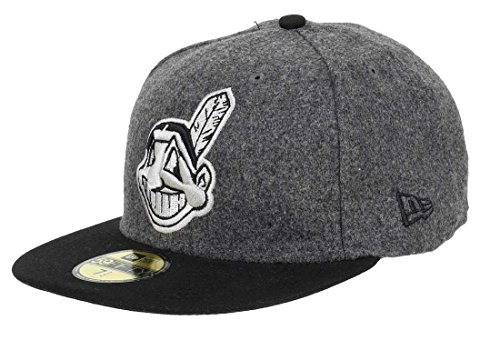 New Era - Cleveland Indians - 59fifty Basecap - Melton Basic Emea - Black / Gray - 7 1/4 - 58cm (L)