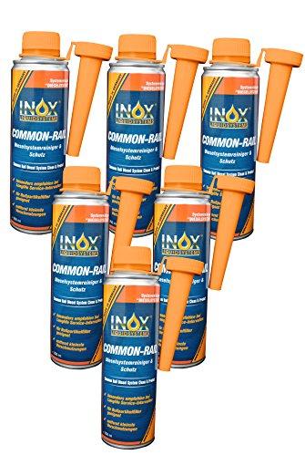 INOX® Common Rail Diesel-Systemreiniger und Schutz Additiv für Dieselmotoren - 6 x 250ml