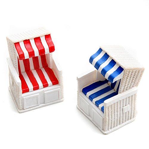 Dio Strandkorb Rot/weiß und Blau/weiß Gestreift, Poly