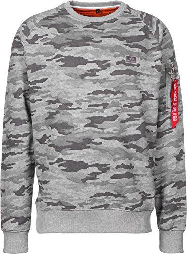 Alpha Industries Herren Sweatshirt Grey Camo