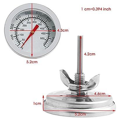 MIsha Termómetro de horno de acero inoxidable Termómetro horno analógico, Termómetro barbacoa carne Termómetro de horno de leña, 50~500℃/100~1000℉