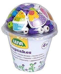Lena 32001-Cupcakes Juego de Manualidades, Color Azul