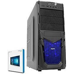 Fierce TERRA 16 Gaming PC - Veloce 2 x 3.8GHz Dual-Core AMD A-Series 9500, 1TB Disco Rigido, 16GB di 2133MHz DDR4 RAM / Memoria, AMD Radeon R5 Grafica Integrata, Gigabyte Ultra-Durable GA-A320M-S2H Scheda Madre, CiT Venom Nero Cassa/Blu Ventilatore, HDMI, USB3, Wi - Fi, Entrata perfetta nei giochi per PC, Windows 10 installato, 3 Anni Di Garanzia 221744
