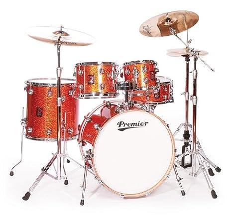 Premier Drums Genista Series 4289944OSX 5-Piece Maple Modern Rock 22 Shell Pack, Drum Set (Burnt