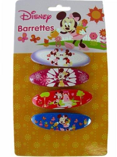 Disney Minnie Mouse Barrettes - 4pcs Set by Disney