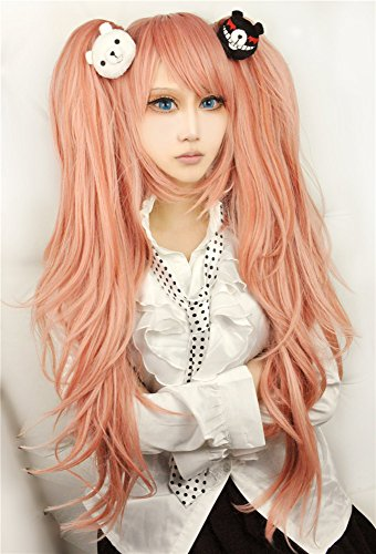 LanTing Cosplay Perücke Dangan Ronpa?Zero Enoshima Junko Orange mix Cosplay Party Fashion Anime Human Costume Full wigs Synthetic Haar Heat Resistant Fiber