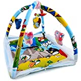 Pure Cotton Kids Baby Bedding Set Playmat Gym With Mosquito Net And Hanging Toys By HOMECRUST