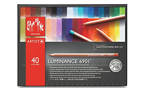 Caran d'Ache Luminance 6901 - Paquete de 40 lápices de colores, multicolor