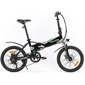 Bicicleta ELECTRICA Plegable Mod. Traveller (Negro BATERIA 12Ah)