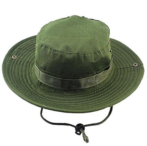 DELEY les Sports de plein air Boonie Hat Cap Camouflage Militaire de Chapeau de Seau de Voyage Bois Chapeau de Pêche 04