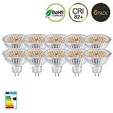 GVOREE 5W LED GU5.3 MR16 Lampadina equivalente a 50W Lampada Alogena Faretto Spot 400lm Non dimmerabile Bianco Caldo 2700k Bulb Downlight Light DC/AC 12V Confezione da 10