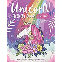 Unicorn Activity and Coloring Book for Kids: A Fun Educational Workbook Complete with Coloring Pages, Word Searches, Spot the Difference, Mazes and More!