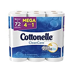 Cottonelle Clean Care Mega Roll Toilet Paper, 18 Count (Pack of 2)