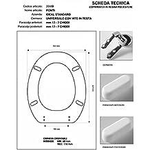 Para inodoro ideal standard Ponti Azul sussurrato cremallera cromo-sedile-asse inodoro