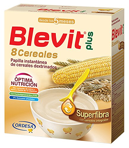 Blevit Plus Superfibra 8 Cereales - Paquete de 2 x 300 gr - Total: 600 gr