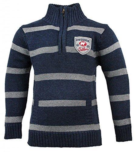 boys-osh-kosh-awesome-outdoor-stripe-zip-neck-knit-winter-jumper-sizes-4-5-6-years