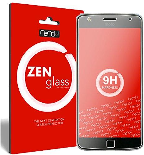 nandu I ZenGlass Flexible Glas-Folie für Lenovo Moto Z Play Panzerfolie I Bildschirm-Schutzfolie 9H I (Kleiner Als Das Gewölbte Bildschirm)