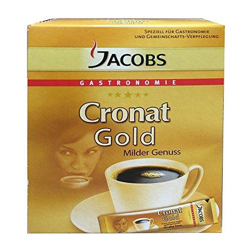 Jacobs löslicher Kaffee Cronat Gold Milder Genuss (25 Sticks, Packung)