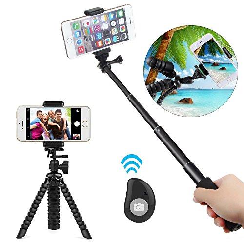 COOLWAY Mini stativ Handy & Selfie Stick 3-in-1 Foto/Video Bundle mit Bluetooth Remote Creator Kit iPhone 7 & 6 Plus, Samsung S8, GoPro Hero 5 und Alle Digitalkameras