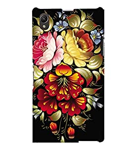printtech Flower Back Case Cover for Sony Xperia Z1::Sony Xperia Z1 L39h