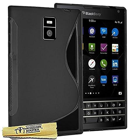 Accessory Master Coque en gel silicone pour BlackBerry Passport Noir