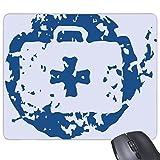 Blau Peace Symbol Erste Hilfe Kit einfach Creative Design Rund, illustration Muster Rechteck rutschfeste Gummi Mauspad Spiel Maus Pad Geschenk