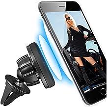 360° Soporte de ventilación magnética coche universal para Apple iPhone 6/6s/6Plus/6S Plus/5/5C/5S/4/4S y Samsung Galaxy S7/S7Edge/S6/S6Edge/S6Edge +/S5/S5Mini/S5Neo/S4/S4Mini/S3/S3MINI/S2/S2PLUS/S/A3/A5/J5/J1/Auto Smartphone Teléfono Móvil