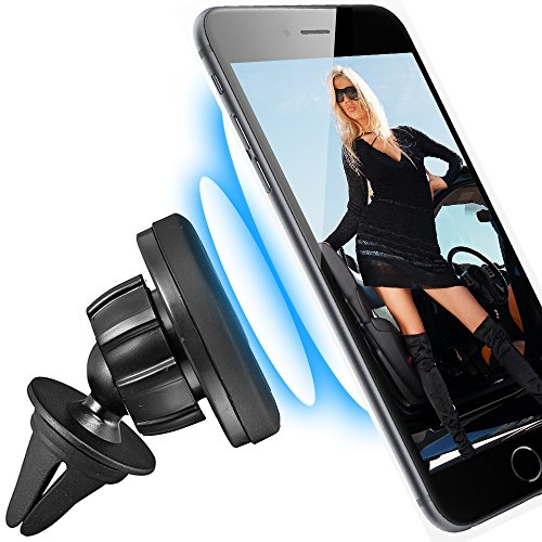scozzi KFZ Lüftungs-Magnet-Halterung für [Samsung Galaxy S9 S8 S7 S6 S5 S4 S3 S2 S A9 A8 A7 A6 A5 A3 J8 J7 J6 J5 J4 J3 J2 J1 Note 9 8 7 6 5 4 3 2 Gran | Plus Edge Mini Prime Pro + mehr] Auto Halter