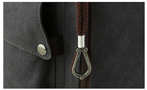 Versione coreana dello zaino degli uomini / sacchetto di spalla casuale / sacchetto di corsa / sacchetto di tela di canapa retrò / sacchetto maschio / sacchetto dell'allievo / sacchetto del calcolator Khaki