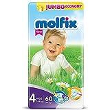 Molfix Maxi/Jumbo Economie Pack de 60 Couches 7-14 kg Taille 4