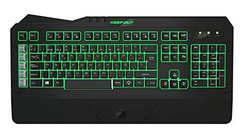 Keep Out Gaming F89CHV2 - Teclado con retroiluminación, Color Negro y Gris