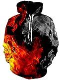 Loveternal Flamme Hoodie Männer 3D Druck Kapuzenpullover Langarm Tops Leichte Sweatshirts Mit Taschen S/M