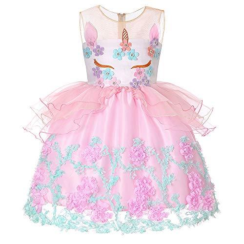 Kleinkind Kinder Party Kleider Weihnachten Kleid Halloween Mädchen -