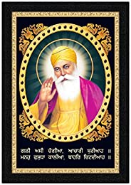ARTAMORI Lord Guru Nanak Sahen Gurubani Painting with Synthetic Frame