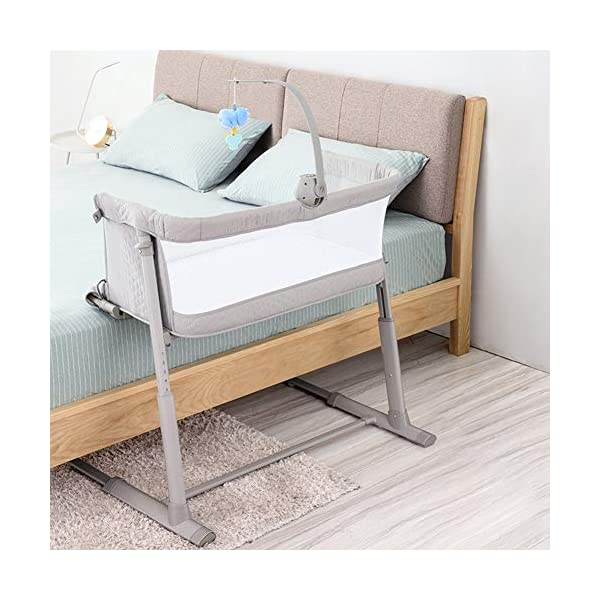 LXZ Baby Diaper Table, Portable Pillow Crib, Splicing Bed, Multi-functional Baby Bed, Newborn Cot, Small Size, Save Space LXZ The mattress cover adopts exclusive protective material. The dense structure effectively blocks dust, keeps the baby away from the respiratory tract and sensitive skin, and is waterproof and dry The crib on the mother's pillow, the baby and the parents sleep and are independent of each other, and the safety and sleep quality are improved simultaneously. C-shaped barrier-free skeleton + bed design, accessible for baby, break the distance, timely comfort, convenient night care 6