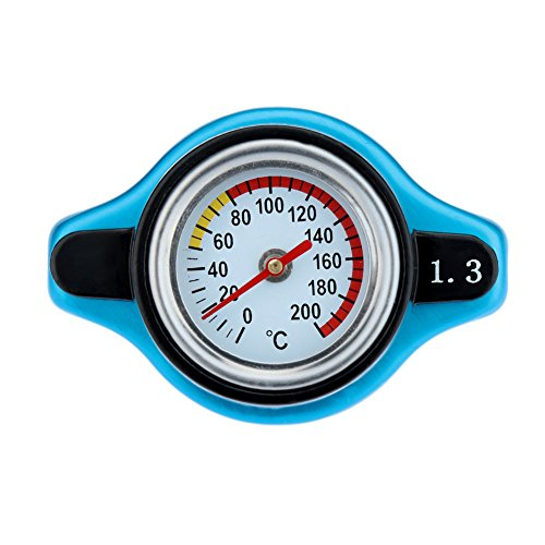 KKmoon Cap coperchio con termometro Temp acqua termostatico Radiator 0,9/1,1/1.3bar blu - Refrigerante Cap