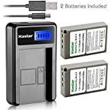 Kastar Battery (X2) & LCD USB Charger For Olympus BLS-5 PS-BLS5 And Olympus OM-D E-400 E-410 E-420 E-450 E-600 E-620 E-P1 E-P2 E-P3 E-PL1 E-PL2 E-PLE15 E-PM1 E-PM2 E-M10 E-PL6 E-PL5 Stylus 1 Camera