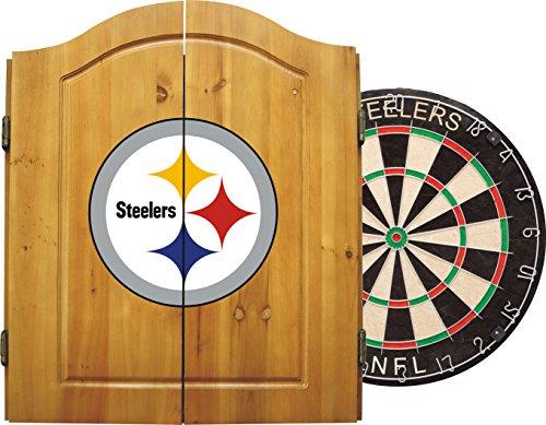 Imperial NFL Dart-Schrank-Set W/Stahl Spitze Borsten Dartscheibe und Darts, hell -