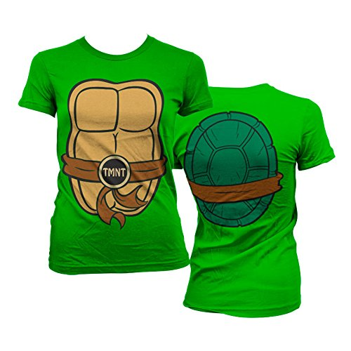 Kostüm April Tmnt - Offiziell Lizenzprodukt TMNT Costume Damen Tee (Grün), Medium