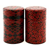 Teedose Geschenkset zwei Teedosen Kamakurabori, für 150g(je Dose) Teeblätter, Chac-122 aus Japan