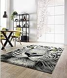 LEADER-A Ladybird alfombra con diseño de tigre amarillo de ojos 120 x 170 cm