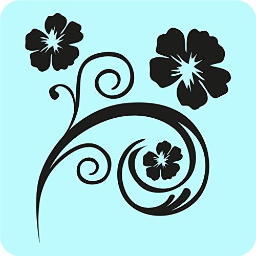 kleb-drauf® - 1 Blumenranke / Silber - glänzend - Aufkleber zur Dekoration von Autos, Motorrädern und allen anderen glatten Oberflächen im Außenbereich; aus 19 Farben wählbar; in matt oder glänzend -