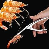Kisshes Edelstahl Schäler Shrimp Prawn Peeler Schälen Garnelen Trap GarnelenschäLer Peel Develer Gerät Peeling Garnelen Meeresfrüchte Zangen Opener Küche Werkzeuge