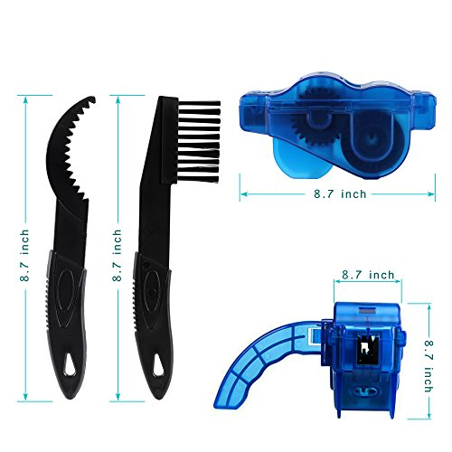 Fahrrad Kettenreinigungsgerät + Fahrrad Kettennieter Set, SYCEES Kettenreiniger mit Bürste und Fahrrad Ketten Entferner für die Kettenreinigung und Kettenentferung von den meisten Fahrrädern (blau + schwarz ) - 5