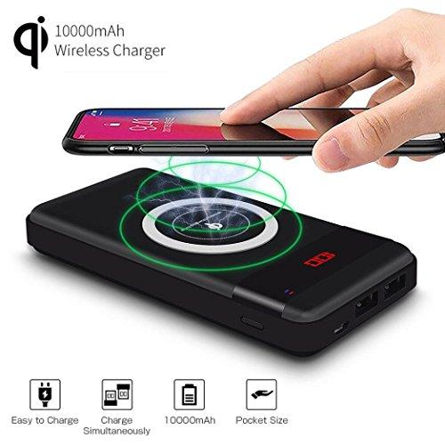 HKFV Auto Ladegerät QI schnelles drahtloses Ladegerät schnell für Samsung-Galaxie S8/9 für iPhone 8/8Plus/X Drahtloses Ladegerät
